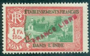 French India #128  Mint  Scott $4.75
