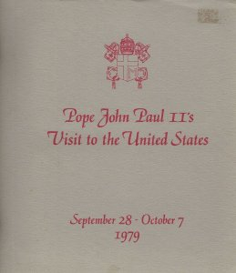 Pope John Paul II 1979 Visit to the United States folder and four covers