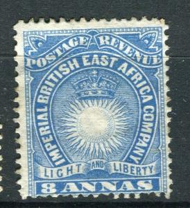 BRITISH EAST AFRICA; 1890 classic Company issue fine Mint hinged 8a. value