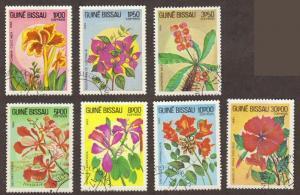 Guinea-Bissau #517-23 CTO flowers cpl