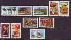 J20466 Jlstamps 2003 france set mnh #2946a-f designs