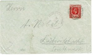 Sierra Leone London F.S. 64 cancel unsealed cover to South West Africa, censored