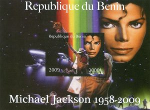 Benin 2009 MICHAEL JACKSON s/s Imperforated Mint (NH)
