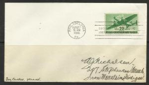 United States 1941 Air Mail FDC Scott# C29