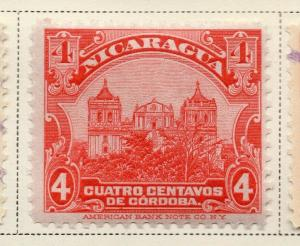 Nicaragua 1914-22 Early Issue Fine Mint Hinged 4c. 323629