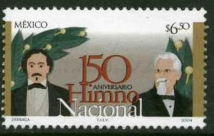 MEXICO 2380, National Anthem, 150th Anniversary. MINT, NH. F-VF.