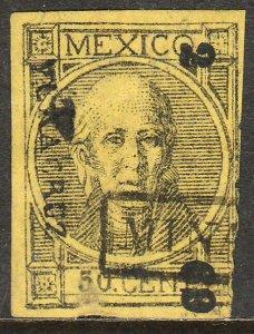 MEXICO-Veracruz-Minatitlan 62, 50¢ 2-69 TA-VE28/1. THICK FIGURES. F-VF (203)