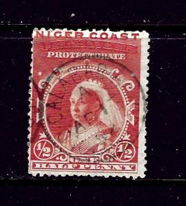 Niger Coast 37 Used 1893 issue some shortened perfs 2019