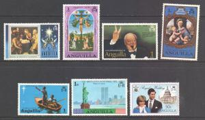 Anguilla, 1970s Lot of 1c stamps unused