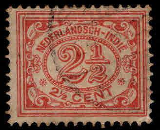 Netherlands Indies  Scott 106 used  from 1912-20 set