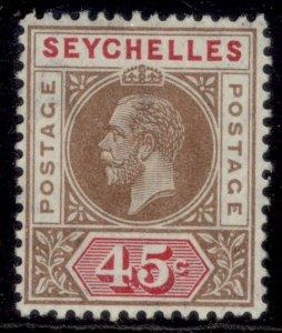 SEYCHELLES GV SG78, 45c brown & carmine, M MINT.