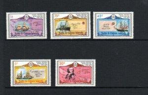 TURK & CAICOS ISLANDS #391-396  1979  DESIGNS     MINT VF NH O.G  a