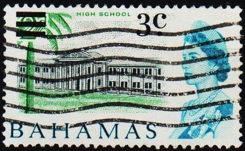 Bahamas. 1966 3c on 2d S.G.275 Fine Used