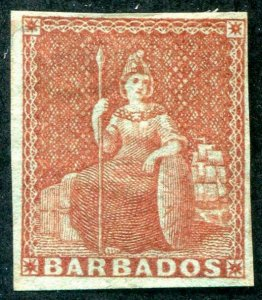 HERRICKSTAMP BARBADOS Sc.# 4 Scott Retail $130.00 Mint Hinged