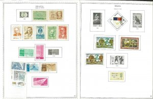 Brazil M & U (mostly) 1959-1980 Hinged on Minkus Specialty Pages