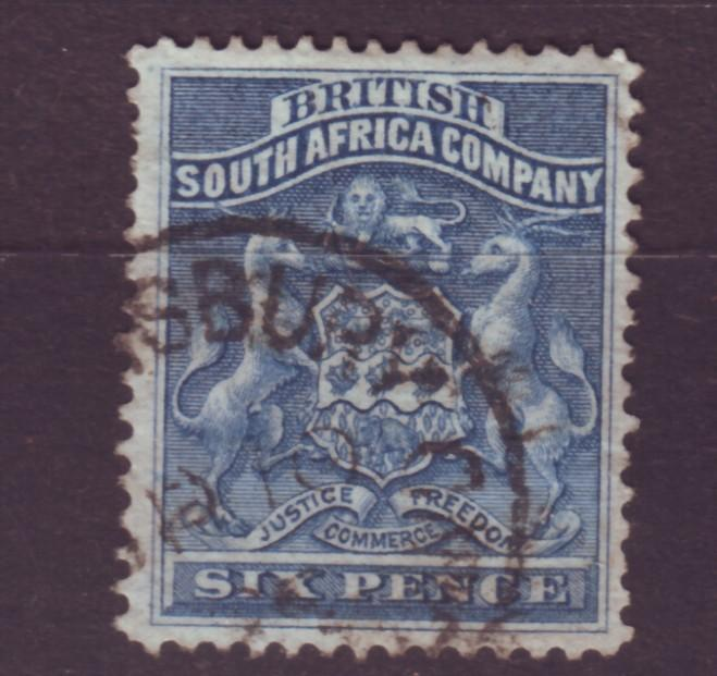 J17041 JLstamps 1890-4 rhodesia  used #7 coat of arms