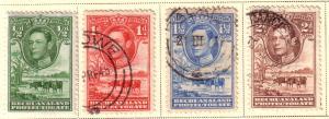 Bechuanaland Protectorate  #124-127 (M&U)  CV $4.65