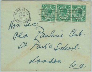 83377  - JAMAICA - POSTAL HISTORY - COVER to GB  1938