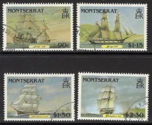 MONTSERRAT SG696/9 1986 MAIL PACKET BOATS FINE USED