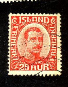 ICELAND 121 USED FVF Cat $63