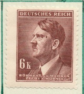 German Bohemia 1942 Hitler Early Issue Fine Mint Hinged 6K. NW-91534
