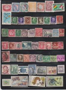 LOT OF DIFFERENT STAMPS OF THE WORLD USED (54) LOT#137