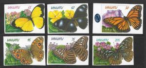 VANUATU SG777/82 1998 BUTTERFLIES  MNH