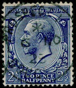 SG371 SPEC N21(-), 2½d deep dull ultramarine, FINE USED. UNLISTED. HENDON CERT.