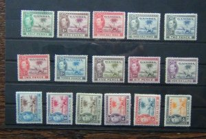 Gambia 1938 - 46 set to 10s MM