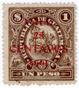 (I.B) Guatemala Revenue : Duty Stamp 25c on $1 OP
