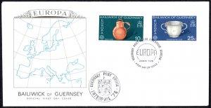 Guernsey Sc# 135-136 FDC 1976 5.29 Europa