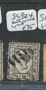 LABUAN   (P0108B)  QV   CAMEO  10C   SG  32X WMK REVERSED    VFU