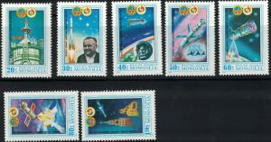Mongolia SC1166-1172 IntercosmosCoopSpaceProgram/wMongolia&USSR MNH 1981