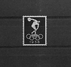 AUSTRALIA Melbourne 1956 Summer Olympics Label/Stamp DISCUS SPORT {samwells}S132