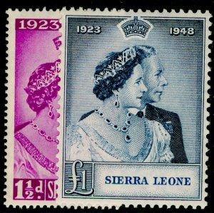 SIERRA LEONE SG203-204, COMPLETE SET, NH MINT. Cat £20. RSW