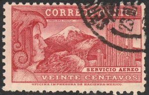 MEXICO C68, 20¢ EAGLEMAN. USED. VF. (556)