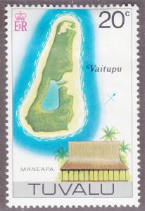 Tuvalu 31 Map of Vaitupu 1976