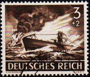 Germany.. 1943 3pf+2pf S.G.819 Fine Used