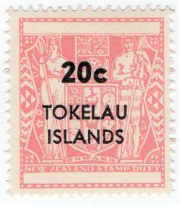 (I.B) New Zealand Revenue : Tokelau Islands Stamp Duty 20c