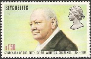 Seychelles 1974 Scott 322 Churchill mint never hinged