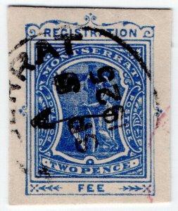 (I.B) Montserrat Postal : Registration 2d