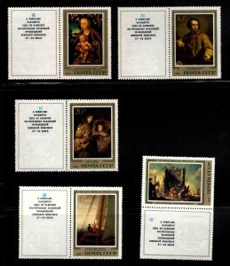 Russia Scott 5129-5133  MNH** Art stamp set with labels 1983