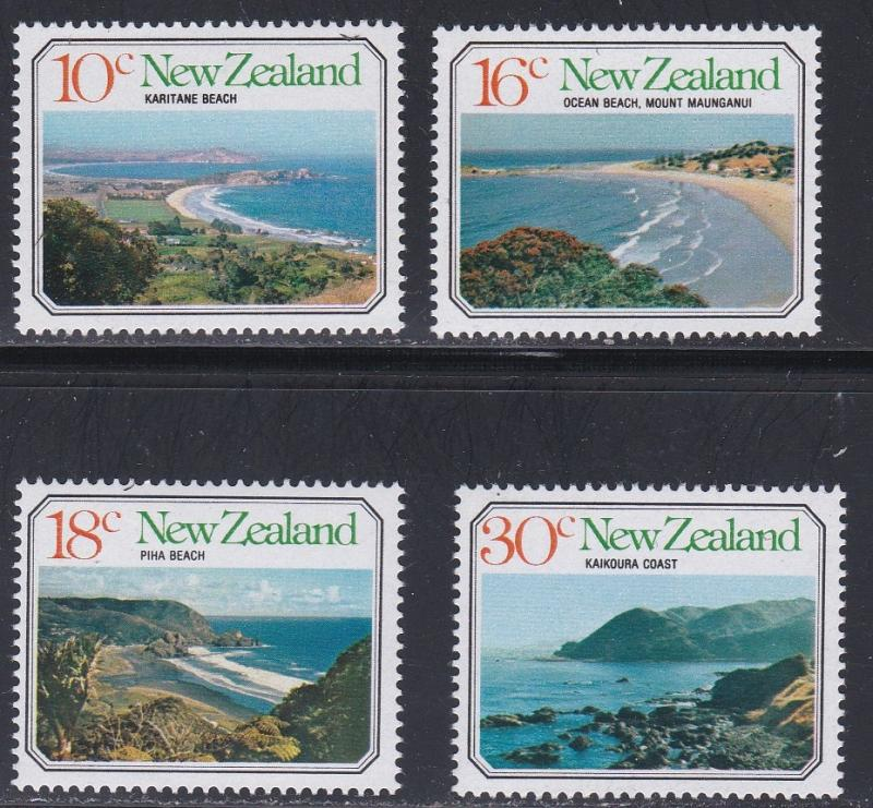 New Zealand MNH 626-9 Beach Scenes