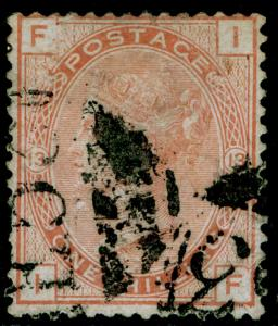 SG151, 1s orange-brown plate 13, good used. Cat £375. E53 PORT-AV-PRINCE. IF
