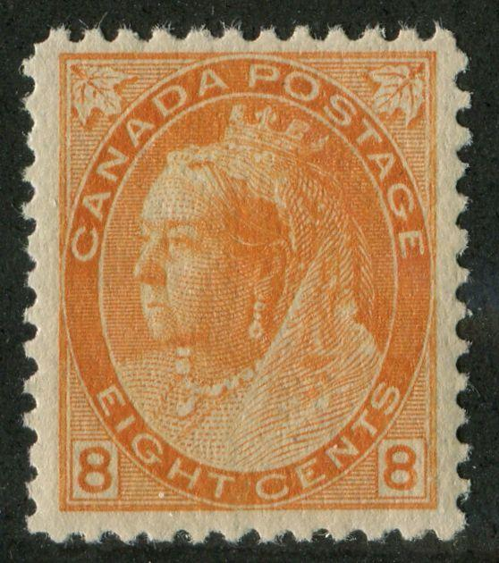 Canada #82 8c Orange 1898-1902 Numeral  Issue  VF-80 NH - 893,800 Issued!