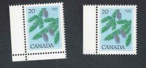 CANADA SNOW ON ACORNS VARIETY SCOTT 718var VF MINT NH (BS17130-3)