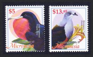Micronesia Birds the Highest Values $5 and $13.65 Cat. Value £67.00 SG#1216-...