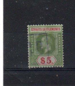 Malaysia - Straits Settlements 1918 $5 FU