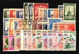Dominican Republic 28 Mostly Mint (Many NH) 1950s / Few Faults - C1070