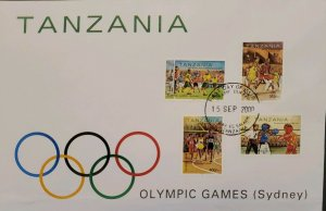 O) 2000 TANZANIA. SUMMER OLYMPICS SYDNEY, SOCCER, BASKETBALL, METER RACE, BOXIN